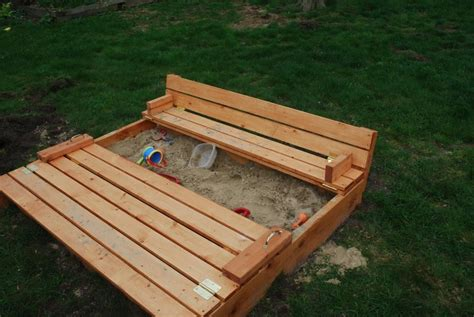 Sandbox With Bench Lid Plans