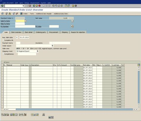 Sap-Invoicing-Plan-Table