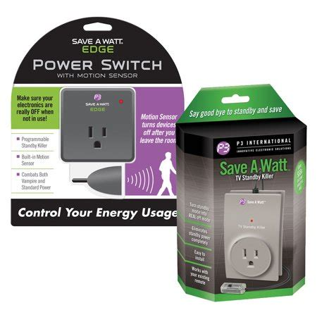 Save a Watt(r) TV Standby and Edge Bundle - Electricity Saver - Automatic Shut Power Off