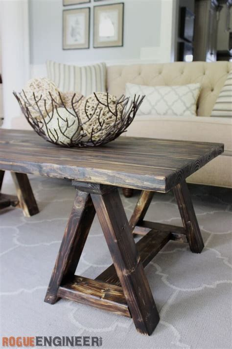 Sawhorse Coffee Table Diy Projects