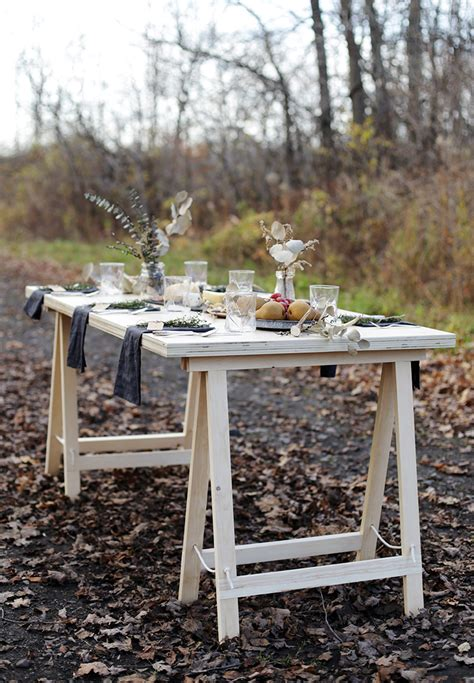 Sawhorse Legs For DIY Table