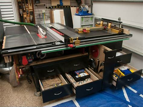 Sawstop Outfeed Table Diy With Shelf