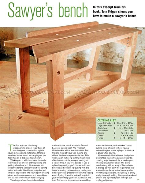 Sawyer's Bench Plans