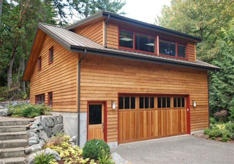Scandinavian Style Garage With Apartment Plans