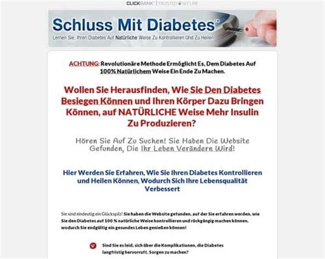 [click]schluss Mit Diabetes Diabetes Treatment - German Version .