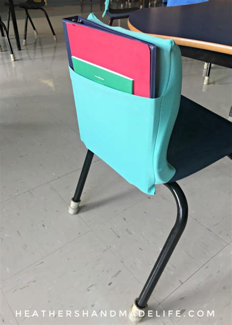 School Chair Pockets Diy