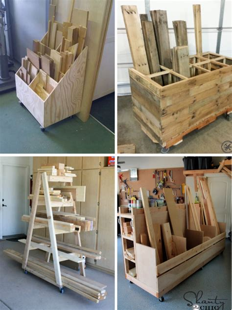 Scrap Lumber Storage Rack