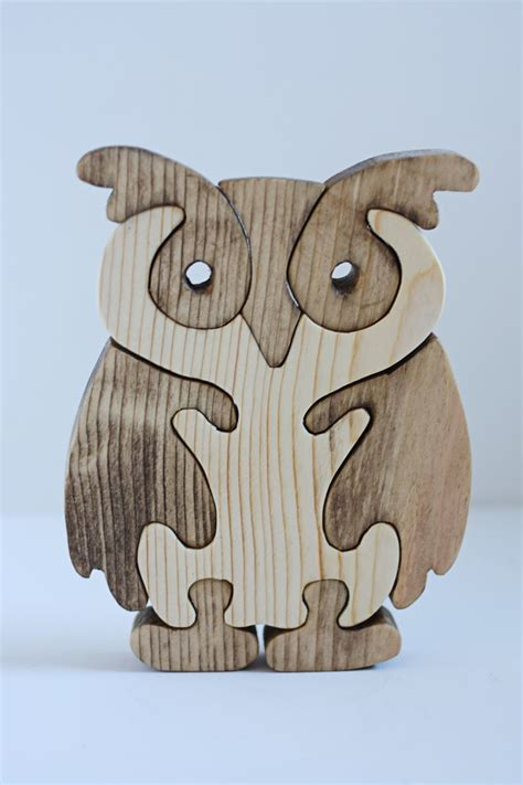 Scroll Saw Owl Puzzle Pattern Glass