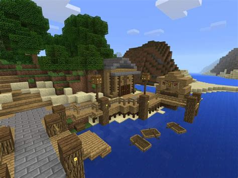 Sea Dock Blueprints For Minecraft
