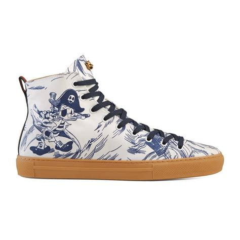 Sea Storm Print Hightop Sneaker Review Gucci