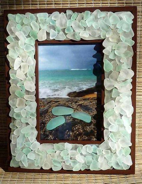 Sea-Glass-Picture-Frame-Diy