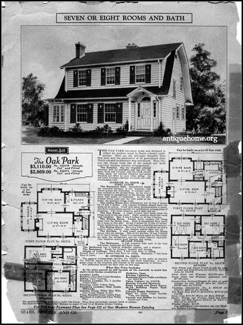 Sears Colonial House Plans