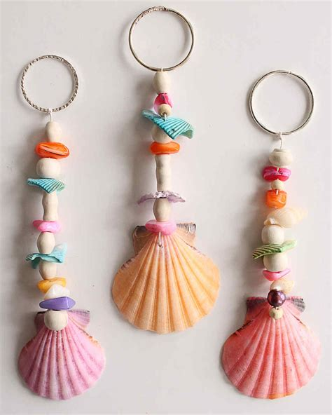 Seashell-Keychain-Diy