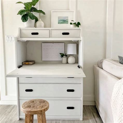 Secretary Desk Into Vanity DIY Decor