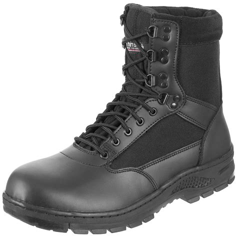 Security 8' Boots Black