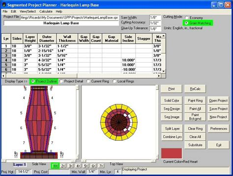 Segmented Project Planner Software