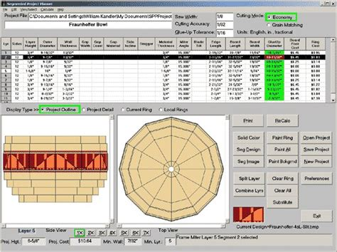 Segmented Woodturning Planner