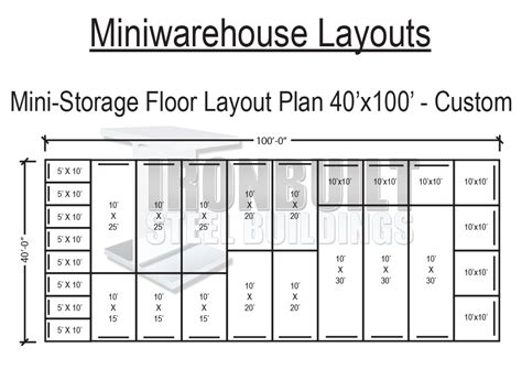 Self Storage Building Floor Plans