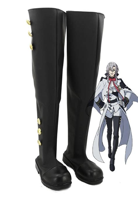 Seraph of the End Anime Mikaela Hyakuya/Ferid Bathory Cosplay Shoes Boots Custom Made