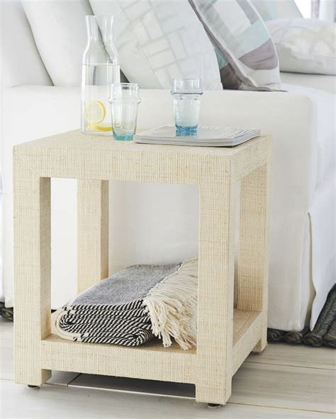Serena And Lily Blake Raffia Side Table