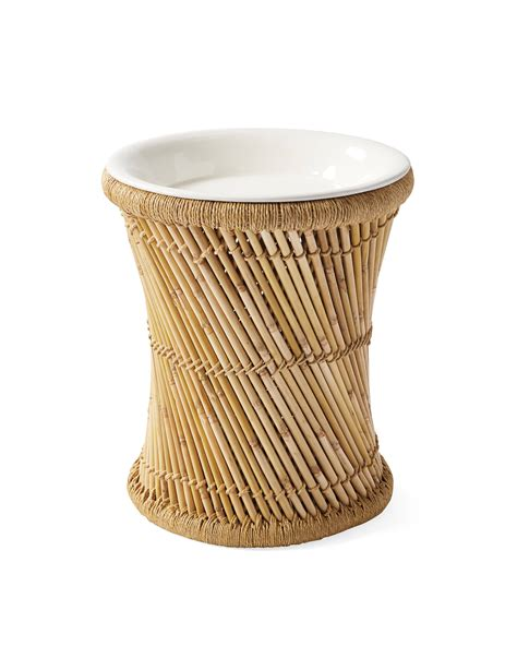 Serena And Lily White Side Table