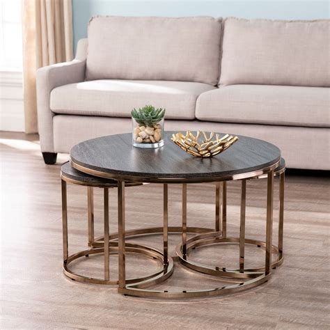 Set Of Round Coffee Side Tables