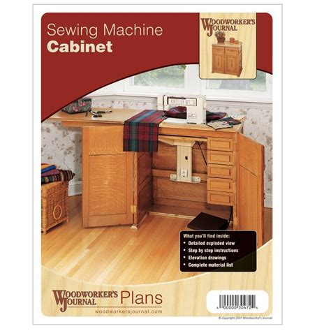Sewing Machine Cabinet Plans Examples
