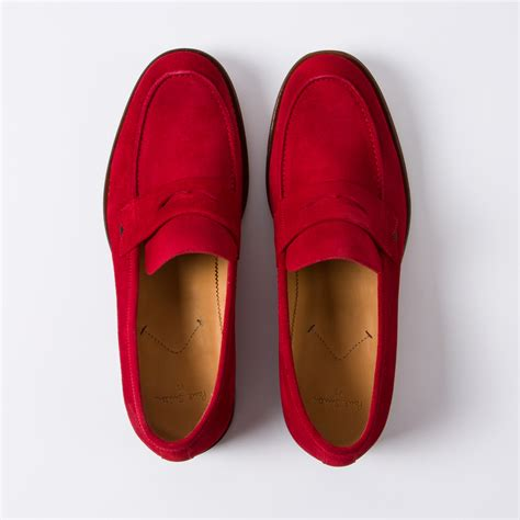 Sexy Man Red Penny Loafers