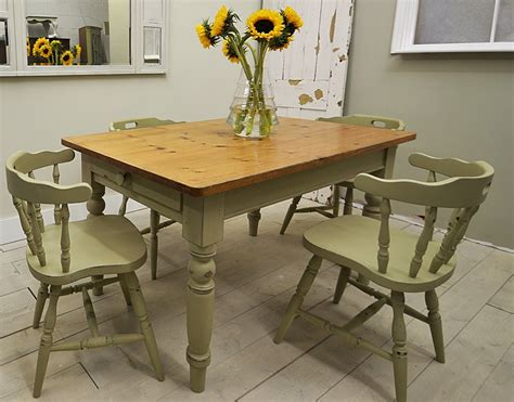 Shabby-Chic-Farmhouse-Table-And-Bench