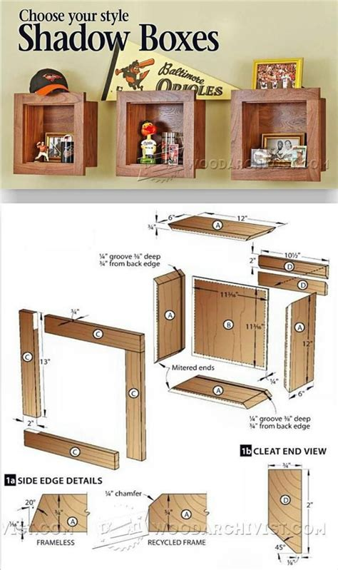 Shadow Box Plans Wood Shadow Box Plans Wood