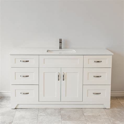 Shaker Cabinet 60 Double Bathroom Vanity Base Only