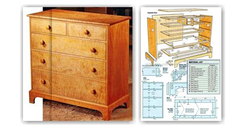 Shaker Chest Of Drawers Plans Free