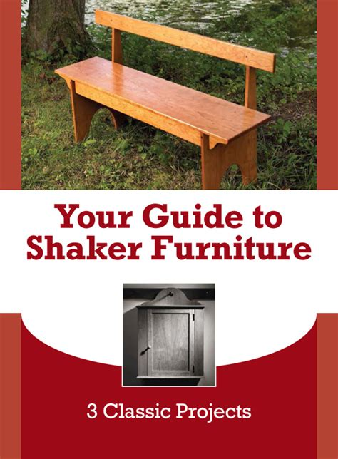 Shaker Furniture Plans Free