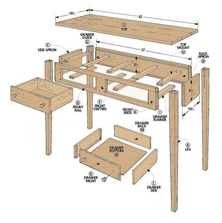 Shaker Hall Table Plans Free