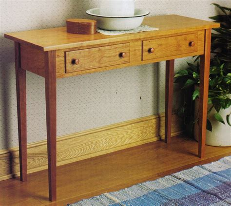 Shaker Style Console Table Plans