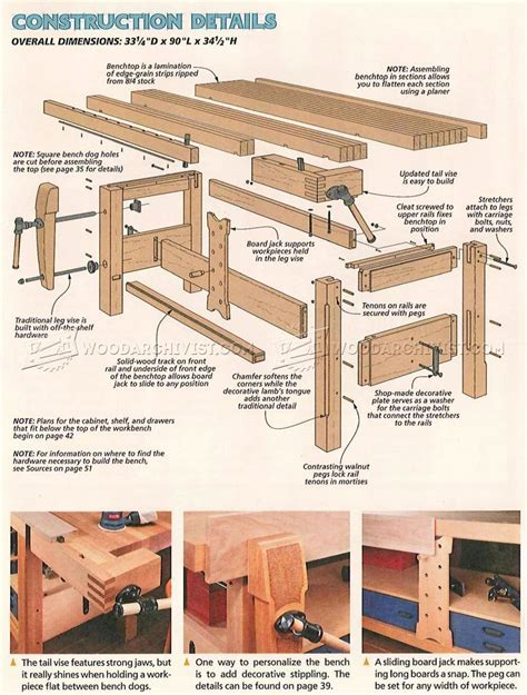 Shaker Woodworking Bench Plans Free