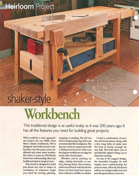 Shaker-Benches-Free-Plans