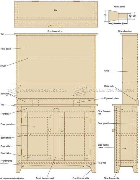 Shaker-Bookshelf-Plans