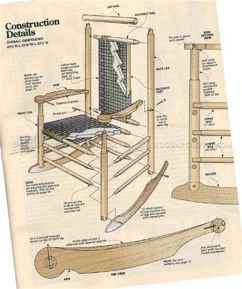 Shaker-Style-Rocking-Chair-Plans