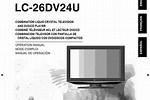 Sharp LC User Manual