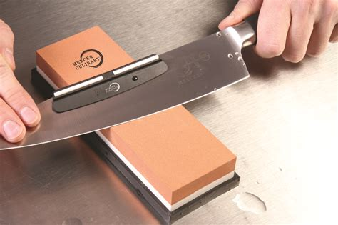 Sharpen Knife With Oil Stone