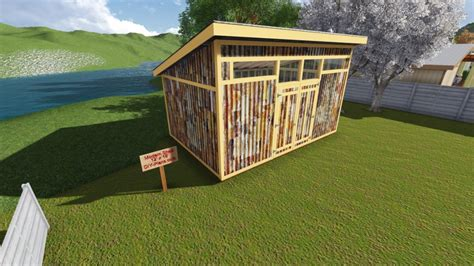 Shed Blueprint Diagrams 12x18