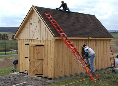 Shed With Loft Plans 12x20