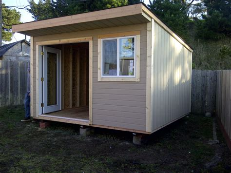 Shed With Slanted Roof Plans