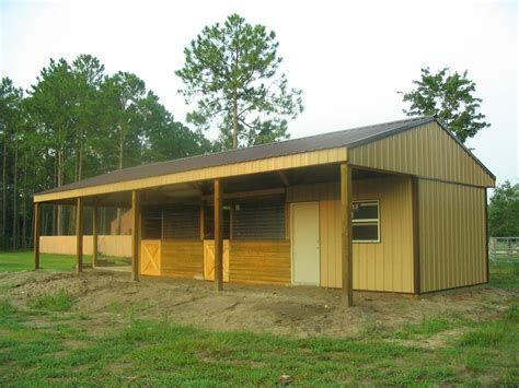 Shed-Row-Horse-Barn-Plans