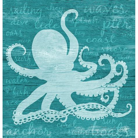 Shelford Octopus Words Shower Curtain