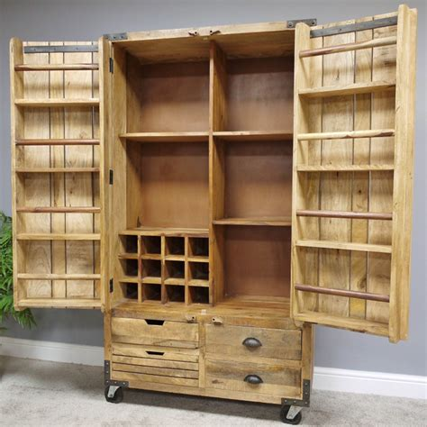 Shelved wooden hutch Image