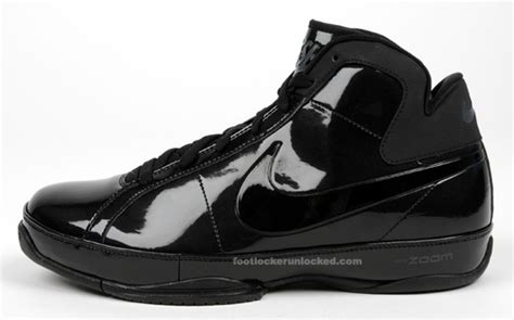 Shiny Black Nike Sneakers