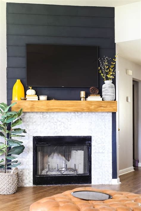 Ship Lap Above Fireplace Diy