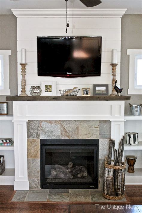 Shiplap Fireplace Decorating Ideas